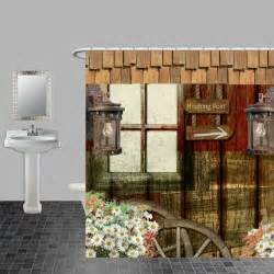 Shower Curtains Rustic Rustic Primitive Weathered Wood Shower Curtain By Folkandfunky