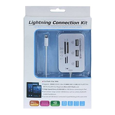New Lightning Connection Kit bao bxt new lightning connection kit sd hc ms tf m2 card reader adapter for