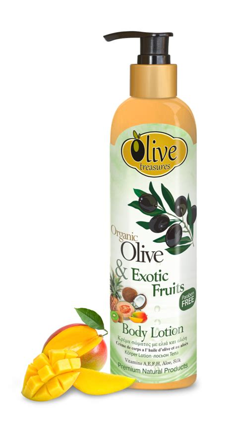 Fruit And Lotion lotion with olive fruits olive treasures