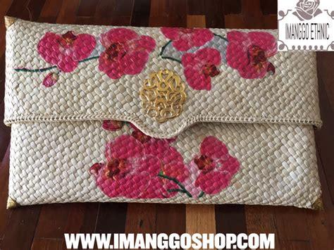 Tas Cluth Cantik Dari Daun Pandan Handmade By Ayudya Craft clutch pandan slorog besar bunga imanggo ethnic