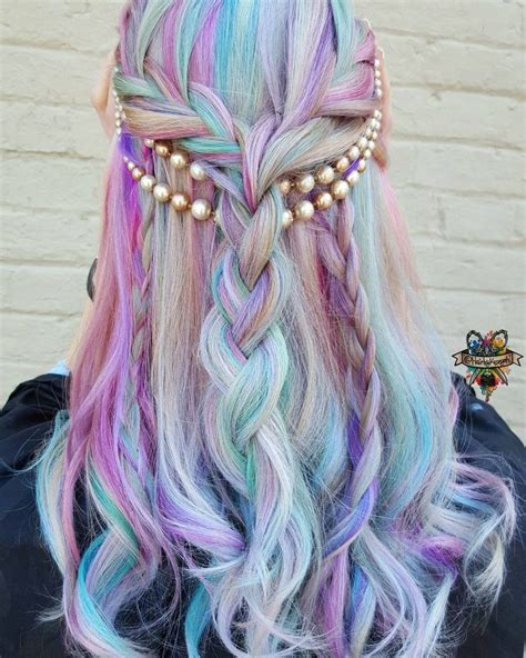 mermaid color hair how to achieve the mermaid hair trend with hair chalk