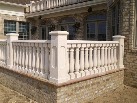 Outdoor Banisters And Railings Concrete Balustrade Traditional Exterior New York