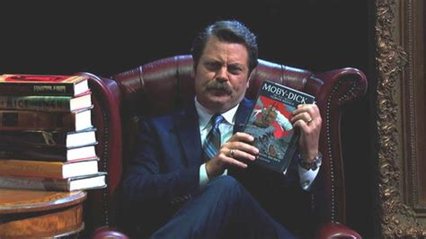 nick offerman out there nick offerman s summer reading recap is perfect for all