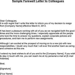 farewell letter free premium templates forms