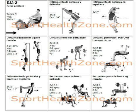 tabla de ejercicios con mancuernas para hacer en casa masa muscular ejercicios con pesas o mancuernas