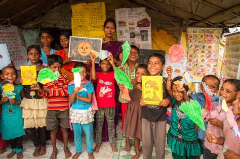 kinder len unsere slumschulen