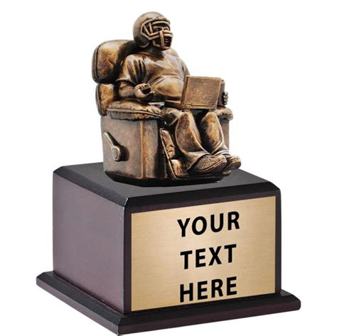 armchair quarterback trophy fantasy sport sculpture trophies fantasy football