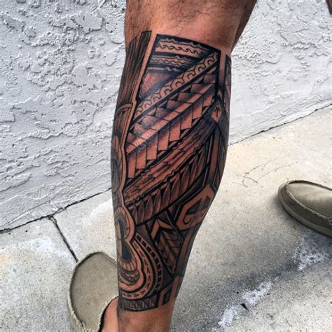 hawaiian tribal leg tattoos 60 hawaiian tattoos for traditional tribal ink ideas