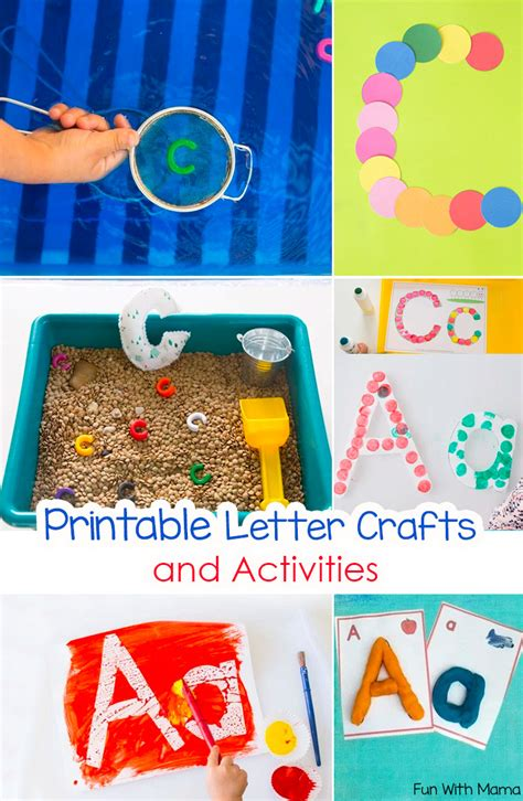 printable alphabet crafts printable alphabet letter crafts fun with mama
