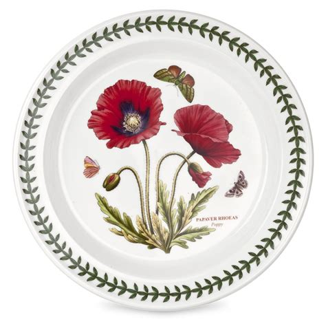 Portmeirion Botanic Garden Dinner Plates Portmeirion Botanic Garden Poppy 10 Inch Dinner Plate Single Spode Uk