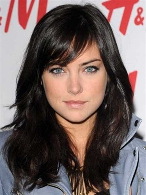 brunette hairstyles with side fringe 30 long hair with side swept bangs long hairstyles 2016