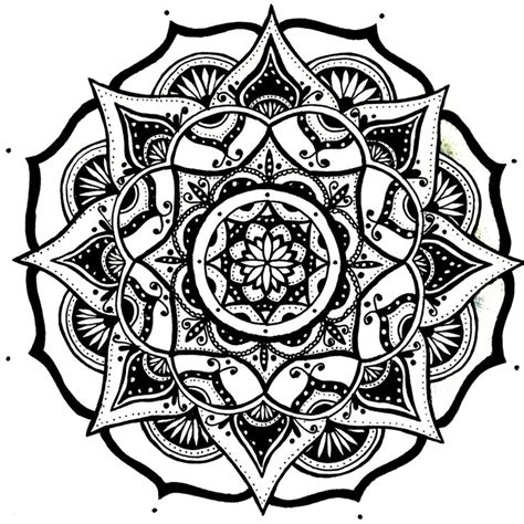 Mandala Pattern Sketch | mandala designs moonlitwoodland quick simple mandala