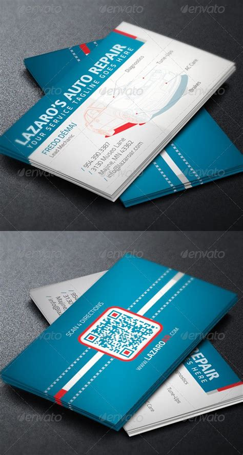 Car Service Business Card Templates by Auto Repair Service Business Card Template Graphicmule