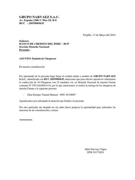 bcp formato archivo cts carta a bcp solicitud de chequeras