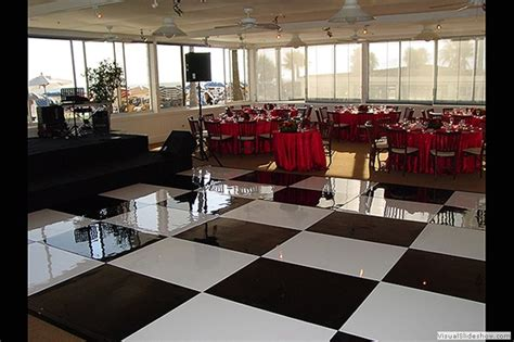 dance floor rental san diego white black glossy
