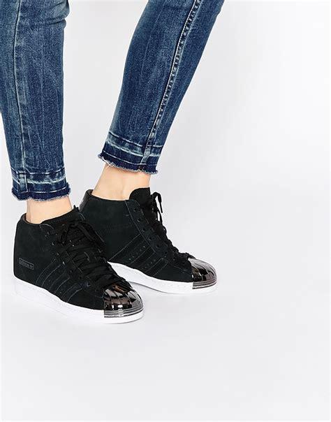 Adidas Superstar Up Metal Toe Womens adidas originals suede superstar up metal toe cap black shoes 7890938