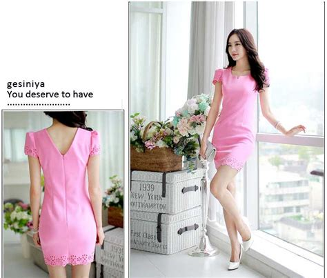 Korea Set Import Light Pink dress pink cantik import korea terbaru model terbaru jual murah import kerja