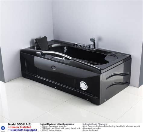 black jacuzzi bathtub black jetted whirlpool hydrotherapy bathtub bath tub w