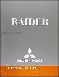 car service manuals pdf 2007 mitsubishi raider on board diagnostic system 2007 mitsubishi raider wiring diagram manual original