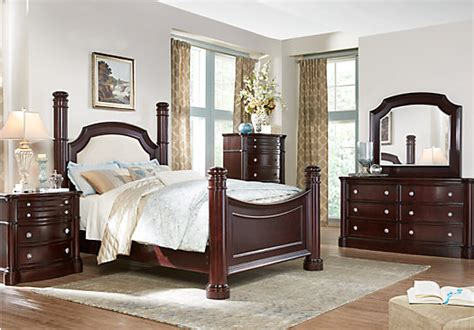 rooms to go and dumont 5 pc king low poster bedroom bedroom sets