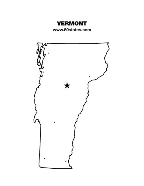 map of the united states showing vermont vermont map