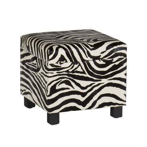 zebra print storage ottoman southern enterprises inc zebra faux leather storage ottoman