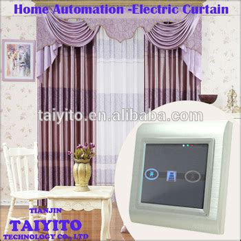 home automation curtains taiyito zigbee remote control electric curtain set in