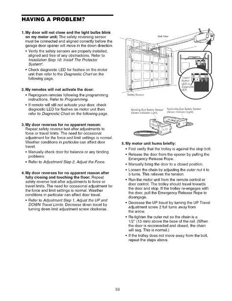 craftsman  user manual  hp garage door opener