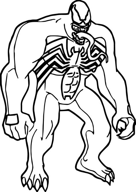 marvel coloring pages marvel venom coloring page wecoloringpage