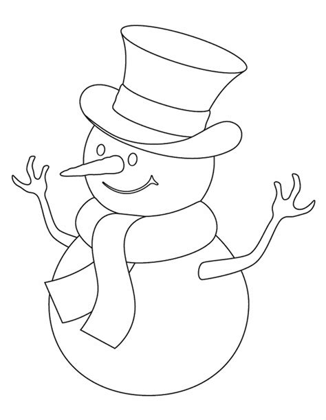 snowman coloring page snowman free printable coloring pages ideas