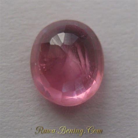 Batu Ruby Berserat jual permata pinkish ruby oval cut 1 15 carat harga