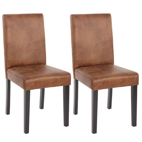 lot de 2 chaises de s 233 jour littau simili cuir pieds