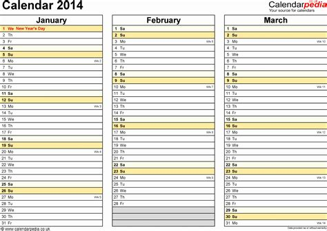 printable year planner 2014 15 9 ms excel calendar template 2014 exceltemplates