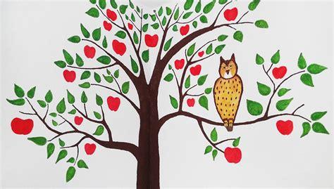ideen kinderzimmer bemalen kinderzimmer bemalen apfelbaum wand gestalten ich lebe