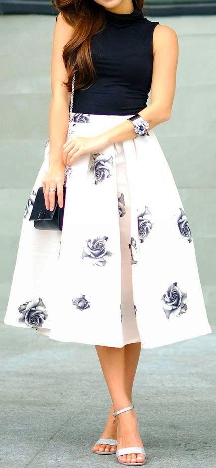 Lnice Flower Top Skirt floral swing skirt dresses swing