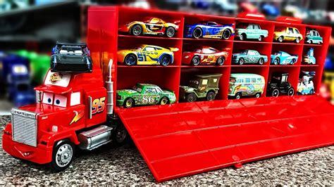 lightning mcqueen truck cars mack truck and lightning mcqueen play car