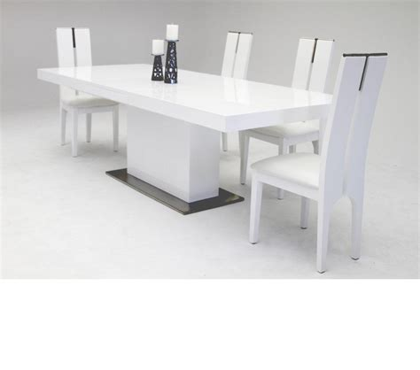White Extendable Dining Table by Dreamfurniture Zenith Modern White Extendable