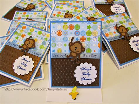 Baby Monkey Theme For Baby Shower by Jingvitations Monkey Theme For Baby Shower Invitations