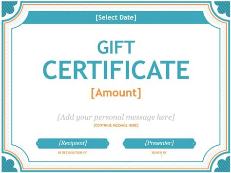 25 unique free gift certificate template ideas on