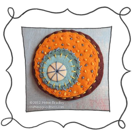 felt orange pattern felt circle embroidery 21 oranges in summer color