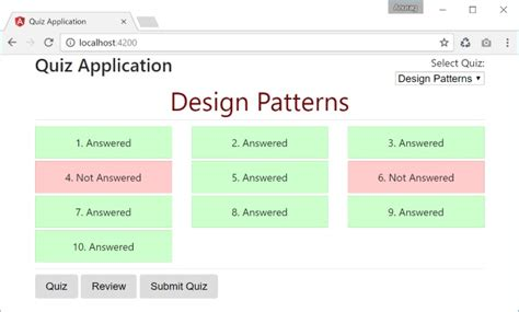 javascript quiz template quiz application in angular 2 codeproject