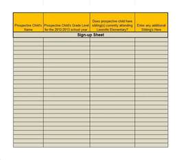 Sign In Sheet Template Excel by 40 Sign Up Sheet Sign In Sheet Templates Word Excel