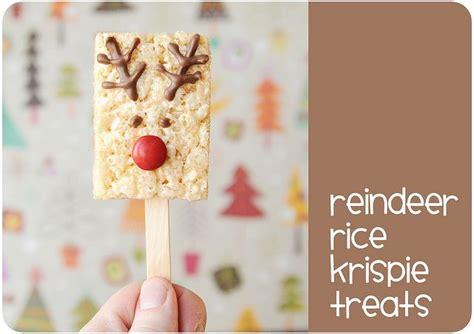 reindeer rice krispie treats christmas cheer for kids pinterest reindeer krispie treats