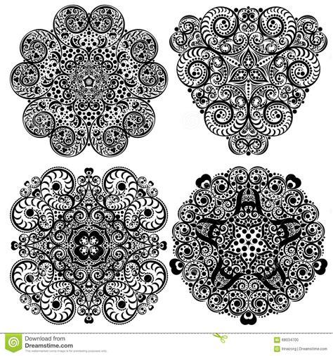 tribal pattern mandala black and white mandala tribal ethnic ornament vector
