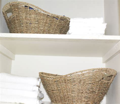 basket for towels in bathroom bathroom closet towels and baskets at home with zan