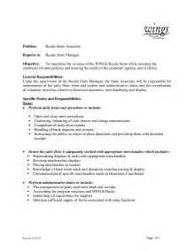 Sle Cover Letter For Retail Store Manager by At T Retail Store Resume Sales Retail Lewesmr