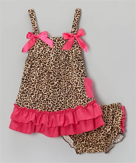 pink and brown graco swing baby gem brown hot pink leopard ruffle swing top