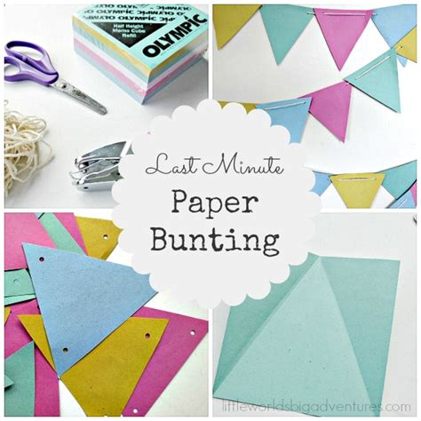 How To Make Bunting With Paper - how to make a last minute paper bunting worlds