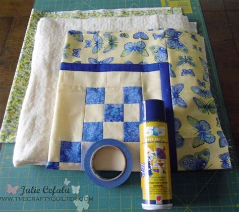 quilting basting tutorial how to spray baste your quilt the crafty quilter