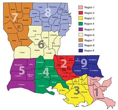 louisiana map index about ldh department of health state of louisiana